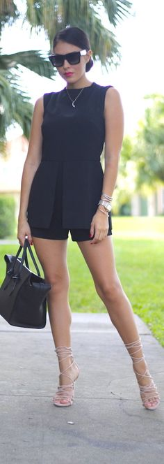 Little Black Romper / Fashion By The Chiffon Diary
