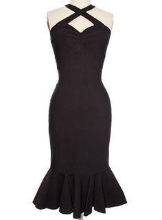 Sultry Siren Black Shimmy Dress $74.00 AT vintagedancer.com