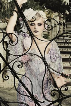 """""""Lovelace Boudoir""""collection  S/S 2011 by Bibian Blue  Great play on gothic & soft"""