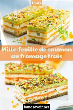 Salmon mille-feuille with cream cheese - Trend Christmas Teens Ideas 2019 Brunch Appetizers, Italian Appetizers, Vegetarian Appetizers, Appetizer Recipes, Torrone Recipe, Cocktail Party Food, Christmas Breakfast, Salmon Recipes, Afternoon Tea