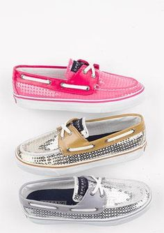 Sequined Sperrys! Why do I not have these yet?!
