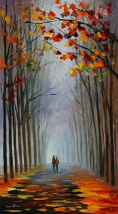 Leonid Afremov- Autumn Fog