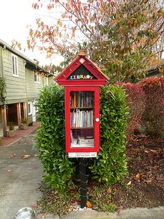 Little Free library  http://www.amazon.com/Micadoo-Blue-Amanda-Burke/dp/0982548060/ref=sr_1_1?s=books&ie=UTF8&qid=1378981184&sr=1-1&keywords=micadoo+blue