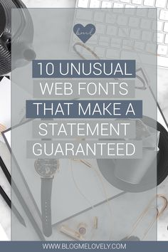 Statement fonts are great for headers or specific call outs. Here are 10 unusual web fonts that are guaranteed to make a statement! Blog Design, Web Design, How To Start A Blog, How To Make, Business Tips, Creative Business, Typography Logo, Social Media Marketing, Improve Yourself