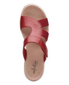 Clarks Collection Women's Leisa Emily Slide Sandals & Reviews - Sandals & Flip Flops - Shoes - Macy's Shoes Flats Sandals, Black Flats Shoes, Cute Sandals, Slide Sandals, Leather Sandals, Girls Sandals, Dressy Flip Flops, Flip Flop Shoes, Clarks Shoes Women