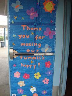Cafeteria Door decorated