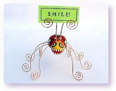Lady Long Legs Photo Holder by jodieflowers on Etsy, $20.00