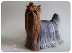 Needle felted Dog / Yorkie/ Yorkshire Terrier/ by Felteddoggie