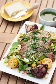 Marinated Flank Steak Salad with Chimichurri — The Sunny Palate