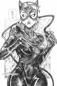 Catwoman by CottonyHotchkiss on DeviantArt Batman And Catwoman, Batman Art, Catwoman Comic, Catwoman Cosplay, Batgirl, Comic Book Characters, Comic Books Art, Arte Dc Comics, Sexy Drawings