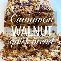 Social Distancing with Cinnamon Walnut Quick Bread for Sunday Brunch – Eat Drink Savor Repeat Unsweetened Applesauce, Unsweetened Almond Milk, Bread Ingredients, Sunday Brunch, Quick Bread, Original Recipe, Cinnamon Rolls, Food Dishes, Cravings