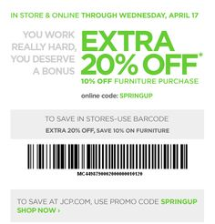 jc penney printable coupon april 2013