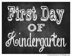 Take Memorable Back to School Pictures With a First Day of School Sign: First Day of School Chalkboard Photo Props by Jones Creek Creations