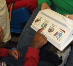 Circle Time Activities for a SPED Classroom. Smart way to use devices at circle time.