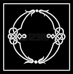 Celtic Knot-work Capital Letter O photo