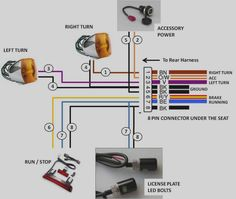 harley turn signal schematic trusted wiring diagram \u2022 block signal wiring diagram pro one led turn signal bar turn signals pinterest harley rh pinterest co uk turn signal flasher schematic turn signal flasher schematic