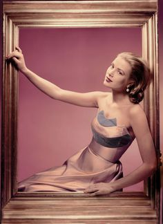 """EARTH ANGEL  The cover of """"Grace Kelly Style"""" features Kelly in an Oleg Cassini dress that she wore at a shoot for Cosmopolitan. Before she met Prince Rainier, Kelly was briefly engaged to Cassini, who helped develop the flattering cuts and styles that would come to be known as her style.     © The Estate of Erwin Bluemfeld, 2009/courtesy of the Victoria and Albert Museum."""