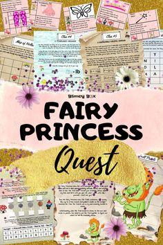 Princess Party Activities, Princess Games, Kids Party Games, Pink Princess, Princess Birthday, Treasure Hunt For Kids, Treasure Hunt Games, Fairy Birthday Party, Birthday Party Games