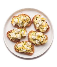 Scallion Butter and Goat Cheese Crostini....To change up the recipe, use a variety of herbs in place of the scallions. Try chives, tarragon, or basil.