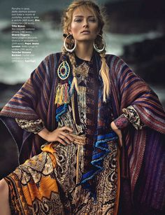 Olga Maliouk In 'Neo Folk' By Signe Vilstrup For Glamour Italia October 2014 - 15 GlamTribale Nature Inspired Jewelry - Women's Fashion & Lifestyle News From Anne of Carversville