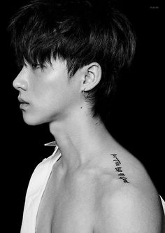 "JAY tattoo ""In the lap of God"" Btob, K Pop, Yg Entertaiment, Rapper, Ikon Member, Ikon Kpop, Koo Jun Hoe, Kim Jinhwan, Ikon Debut"
