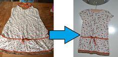 Stipjes en datjes: Tutorial van jurk naar babyjurkje