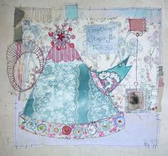 Priscilla Jones - quirky drawings, pastel colours - lots of stitch.. narrative
