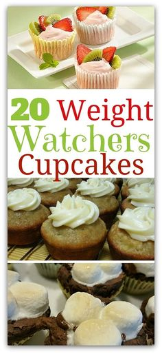 You wouldn't think a Weight Watchers Cupcake could be part of a weight loss plan. Luckily, on Weight Watchers, you can indulge in that sweet treat! Weight Watchers Cupcakes, Weight Watcher Desserts, Weight Watchers Meals, High Carb Foods, No Carb Diets, Low Carb, Ww Desserts, Healthy Desserts, Healthy Recipes