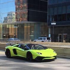 Lamborghini Aventador Super Veloce Roadster painted in Verde Scandal  Photo taken by: @frantheman7 on Instagram