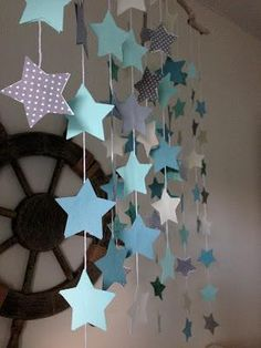 Sea of Stars Mobile Mobiles Diy, Nursery Mobiles, Yw In Excellence, Sea Of Stars, Star Mobile, Star Diy, Paper Stars, Diy Tutorial, The Dreamers