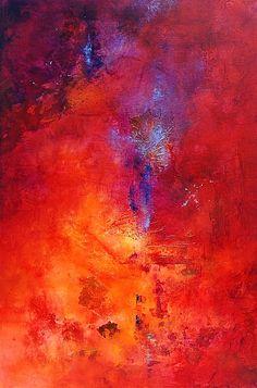 Abstract mixed media art  by Cynthia Adams