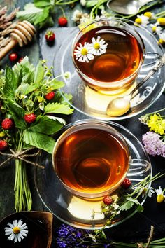 Herbal tea by klenova on @creativemarket