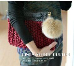 린넨스티치 클러치 : 네이버 블로그 #clutch #knit