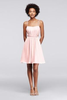 6671edc8be2 Chiffon Short Bridesmaid Dress with Pleating Style F19229