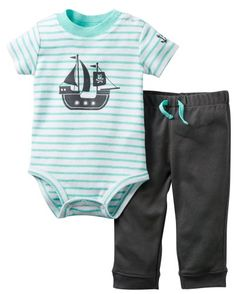 $19.95 Carters Baby Boy Pirate Ship Stripe Bodysuit Set 3 Mo Grey Carter's,http://www.amazon.com/dp/B00IDZLCR4/ref=cm_sw_r_pi_dp_O8tctb0CAAAGFBBD