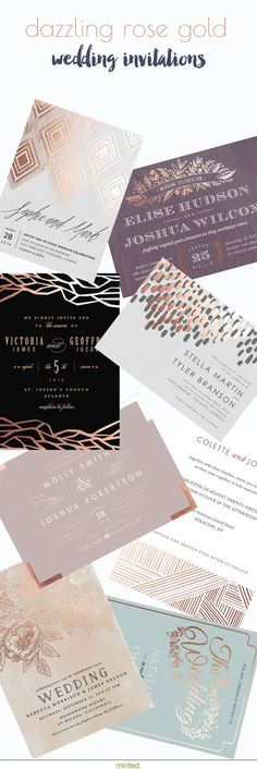 Dazzling rose gold wedding invitation accents will set the tone for your special. Dazzling rose go Gold Wedding Invitations, Wedding Invitation Design, Wedding Stationary, Wedding Cards, Diy Wedding, Dream Wedding, Wedding Ideas, Wedding Invitation Inspiration, Invitation Cards
