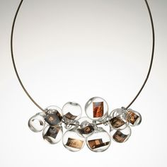 photo glass bubble necklace