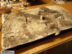 Diorama Grundplatte, Grabenstellung mit Unterstand, 90x40cm, 1:35