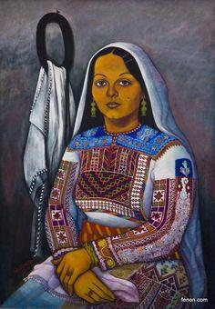 Palestine History, Palestine Art, Arabian Decor, Arabian Art, Famous Portraits, Embroidery On Clothes, Paper Artwork, Jewish Art, African Art