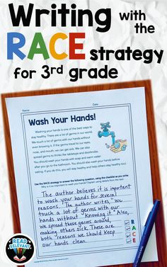 Passages are written at a grade reading level. These ready-to-use printables are great for formative assessments or test-prep! Races Writing Strategy, Race Writing, Writing Test, Writing Strategies, Writing Lessons, Teaching Writing, Writing Practice, Writing Activities, Comprehension Strategies
