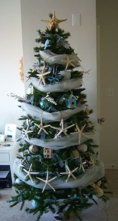 Cool wrap around a Christmas tree.