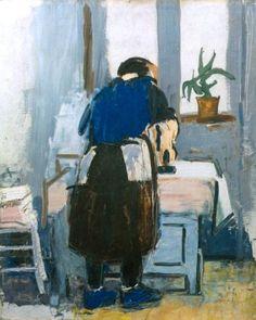 Woman Ironing by Alexandru Ciucurencu on Curiator, the world's biggest collaborative art collection. Post Impressionism, Impressionist, Frasier Crane, Creative Skills, Collaborative Art, Portrait, Artwork, Painting, Artists