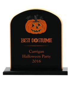 Pumpkin Tombstone Award - Awards and Apparel Halloween Trophies, Spooky Halloween, Halloween Party, Get In The Mood, Cool Costumes, Pumpkin, Seasons, Scary Halloween, Pumpkins