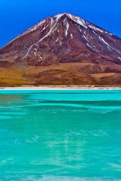 Laguna Verde, A beautiful Salt Lake of Bolivia.