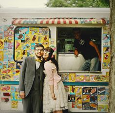 What a cute idea for a wedding: ice cream truck catering! Home Wedding, Wedding Blog, Summer Wedding, Diy Wedding, Wedding Ideas, Outdoor Wedding Inspiration, Wedding Photography Inspiration, Unique Weddings, Real Weddings