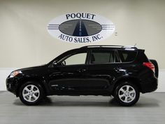 2012 Toyota Rav 4 in black. so pretty! maybe if we switch to a one car family, we can get one of these...
