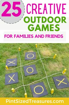 Outdoor games are a great way to get your family outside! Get ready for some outdoor fun that's full of giggles and outdoor activities! Outdoor Activities For Kids, Family Activities, Outdoor Games For Children, Children Games, Rainy Day Games, Preschool Games, Preschool Ideas, I Love Games, All Family