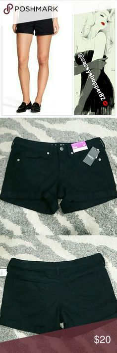 "Mossimo mid-rise shorts NWT Brand new with tags    Grab these fabulous black denim shorts for your wardrobe! These can be worn in the summer with your favorite top and sandals or in the fall/winter with thigh high boots, top and trendy cardigan!! 98% cotton 2% spandex Size 0/25 4""inseam Mossimo Supply Co Shorts Jean Shorts"