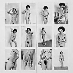 esther ferrer intime et personnel 1977 Photographies noir et blanc 30 x 40 cm chacune