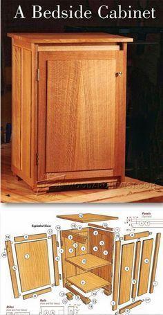 Bedside Cabinet Plans - Furniture Plans and Projects | WoodArchivist.com